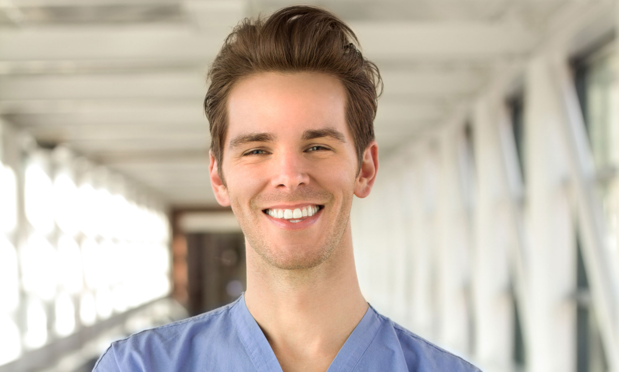 Smiling male nurse